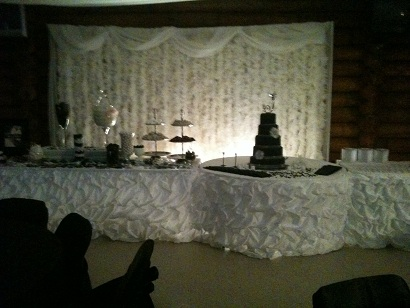Black and White Candy Buffet and Cake