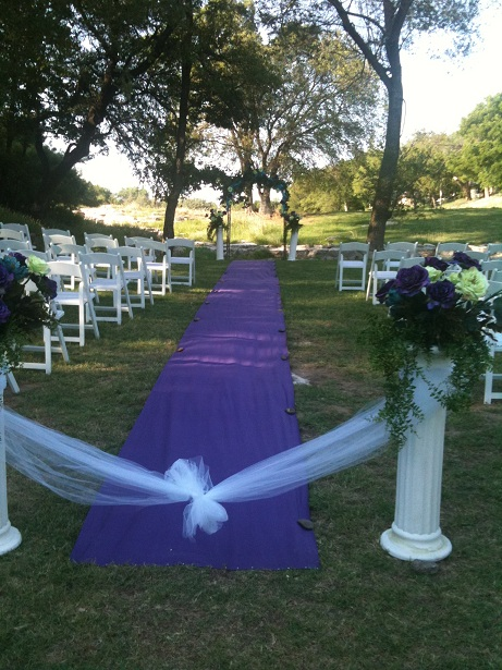 Aisle Runner Rental by the Pink Orchid