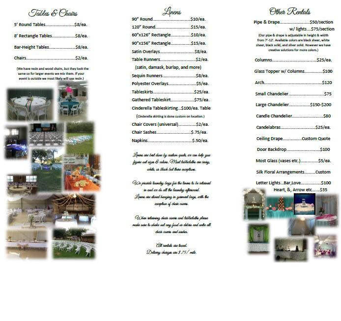 Event Rental Brochure