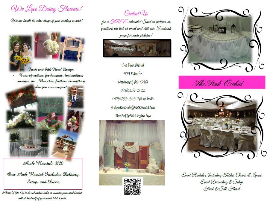 Brochure of Event Rentals