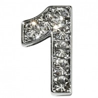 Clear Number Charms-