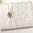 Ivory Lace Guestbook-