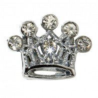 Clear Crown Charm-