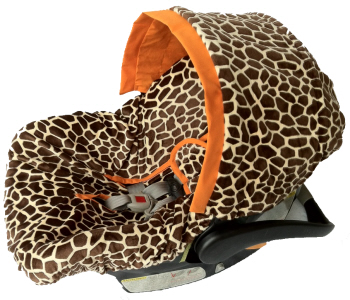 Ritzy Baby Infant Car Seat Cover- Giraffe-