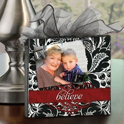 Picture This- Magnetic Display Block More Design Options-believe, baby, anniversary, trust in the lord, family, fleur de lis, home decor