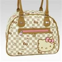 Hello Kitty Checkered Bag Collection-travel, hello kitty, purse, bag, wallet