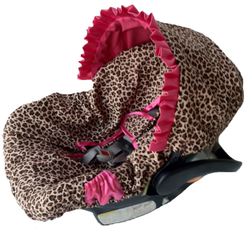 Ritzy Baby Infant Cat Seat Cover- Leopard-