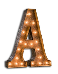 Vintage Marque Letter- FULL ALPHABET AVAILABLE-