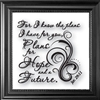 For I Know The Plans...-Clearly Yours, Laser, Wall, Glass, Frame, Verse
