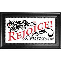 Rejoice. A Savior is  Born.-Christmas, glass, frame