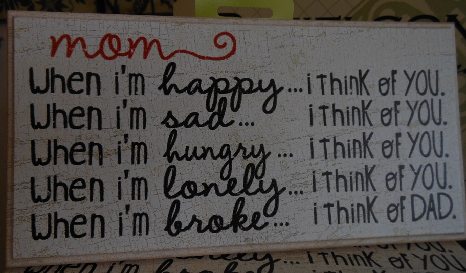 Think of you plaque-