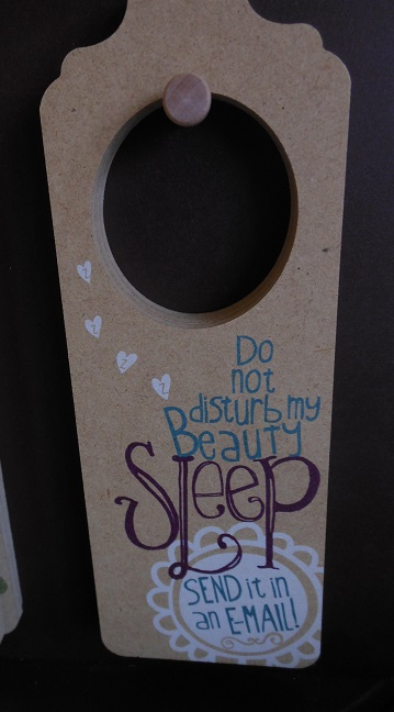 Beauty Sleep Door Hanger-