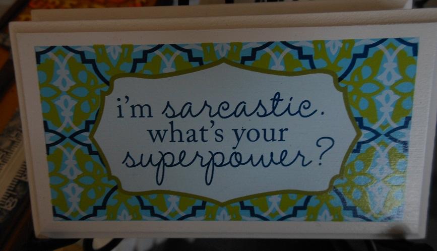 I'm sarcastic magnet-