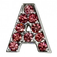 Pink Letter Charm-