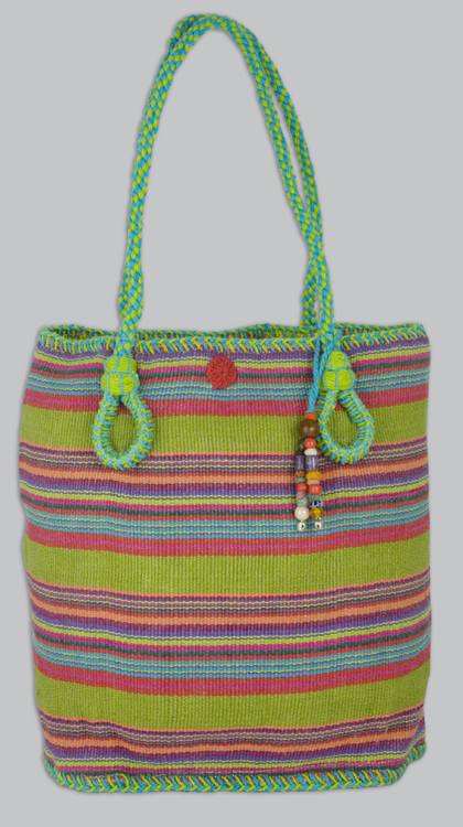 Lime Multi Medium Riviera Bag by Catstudio-