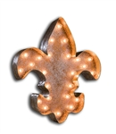 Vintage Marque Fleur De Lis-Fleur de lis, light, french, rust, antique, vintage