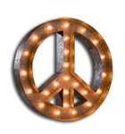 Vintage Marque Peace Sign-