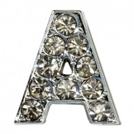 Clear Letter Charms-