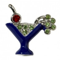 Martini Glass Charm-