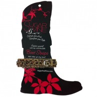Personalizable Boot Strap - More colors available-Sugar and Vine, leopard, boot, slide-on charms, personalized