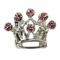Pink Crown Charm-